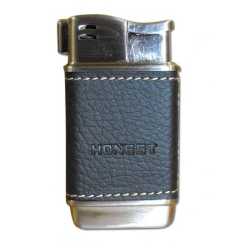 Honest Boyd Pipe Lighter – Black Leather (HON02)