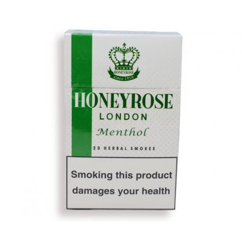 Honeyrose London Menthol Flip Top - 20 Packs of 20 Herbal cigarettes (400)