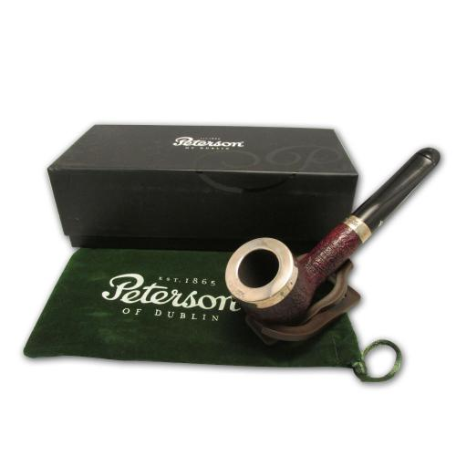 Peterson Silver Cap Sandblast Pipe - 106 (Fishtail)