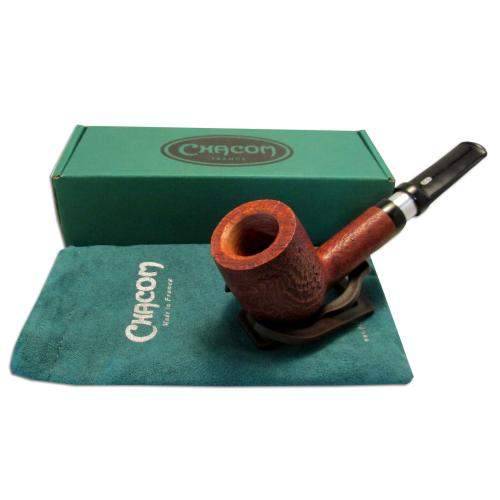 Chacom Robusto 9mm Large Brown Sandblast 190 Pipe