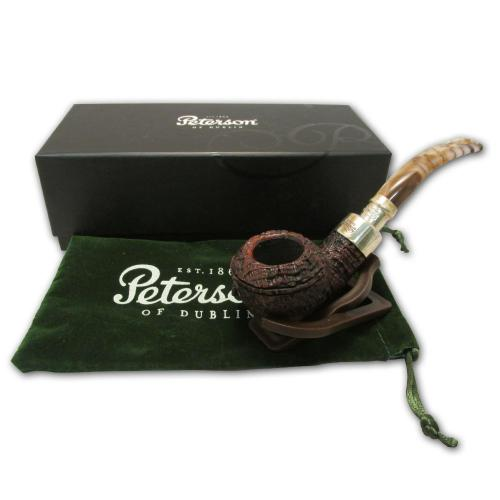 Peterson Spigot Roundstone Marble Pipe - 999 (9mm filter)