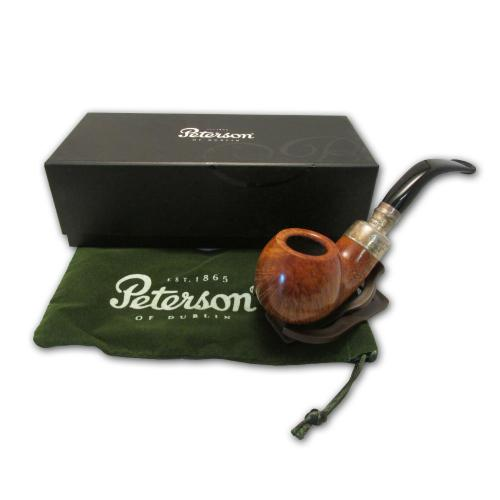 Peterson Spigot Army Natural Silver Mouthpiece Pipe - XL02 (Fishtail)