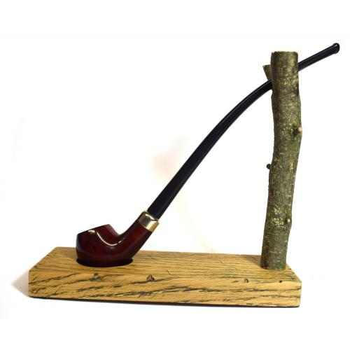 Jean Claude Smooth 9mm Filter Churchwarden Fishtail Pipe (JC012)