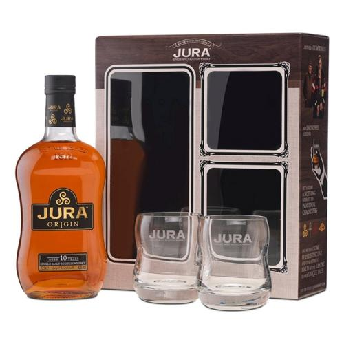 Isle of Jura 10 Year Old Whisky Gift Pack 70cl With 2 Glasses