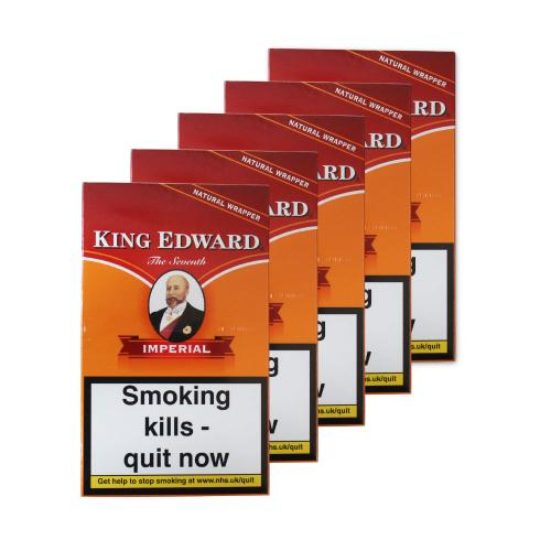 King Edward Imperial Cigars - 5 x Packs of 5 cigars (25 cigars)