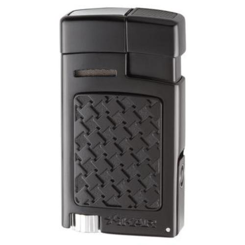 Xikar Forte Soft Flame Lighter with Punch Cutter - Black Houndstooth
