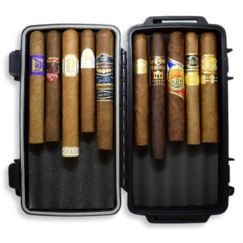 Long Weekend Sampler - Crushproof Travel Cigar Case + 10 Cigars