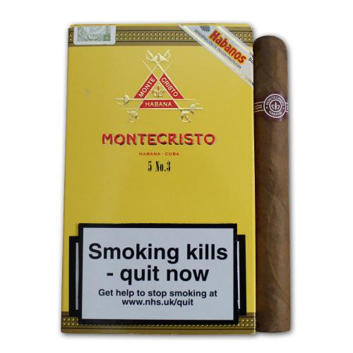 Montecristo No. 3 Cigar - Pack of 5