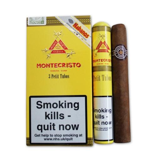 Montecristo Petit Tubos Cigar - Pack of 3