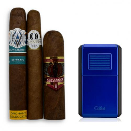 Exclusive Cigar Selection + Colibri Astoria Triple Jet Flame Lighter Sampler