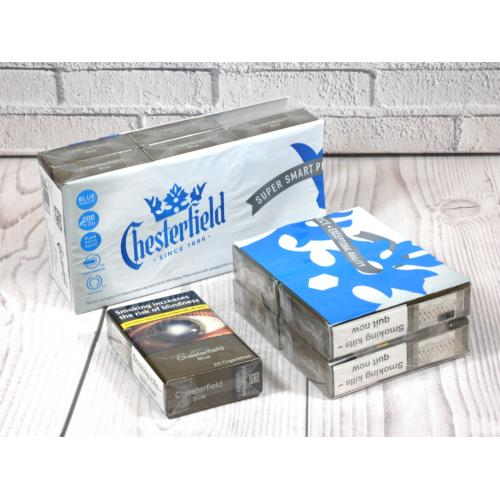 Chesterfield Blue Kingsize Cigarettes - 10 packs of 20 cigarettes (200)