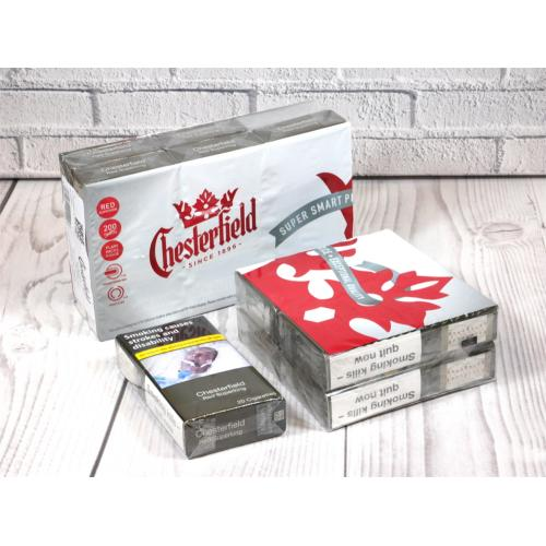 Chesterfield Red Superking - 10 packs of 20 Cigarettes (200)