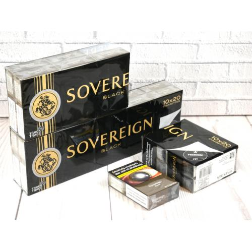 Sovereign Black Kingsize - 20 packs of 20 cigarettes (400)