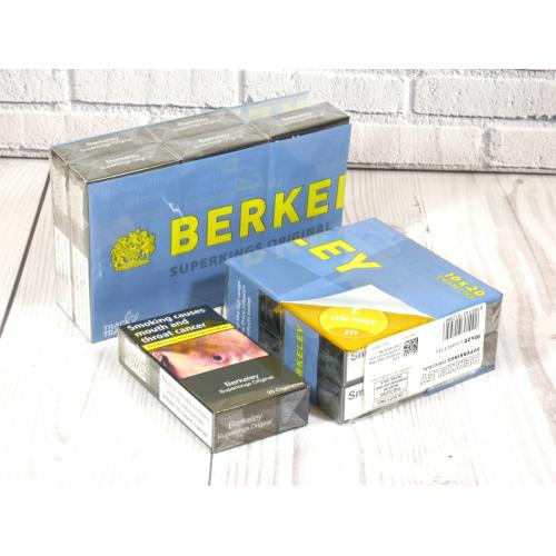 Berkeley Yellow Superking - 10 Packs of 20 Cigarettes (200)