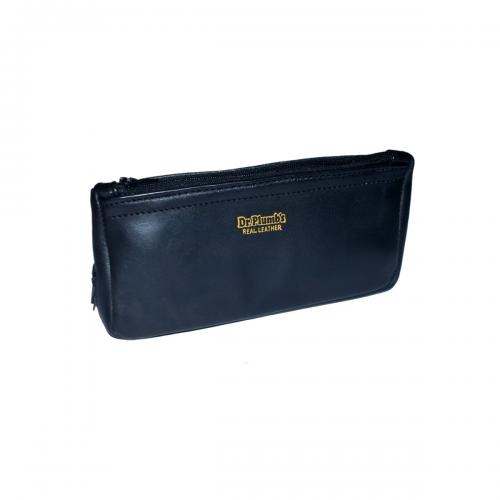 Black Leather Pipe Combination Tobacco Pouch