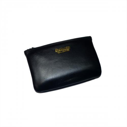 Dr Plumb Zip Real Leather Tobacco Pouch