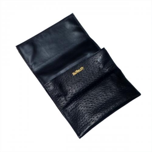 Dr Plumb Peccary Roll Up Leather Tobacco Pouch