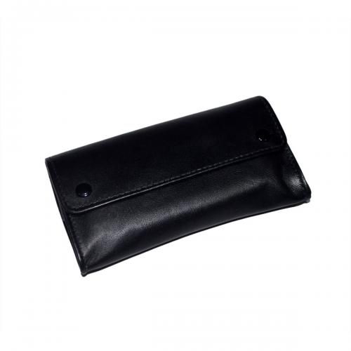 Dr Plumb Large Leather Box Wallet Tobacco Pouch