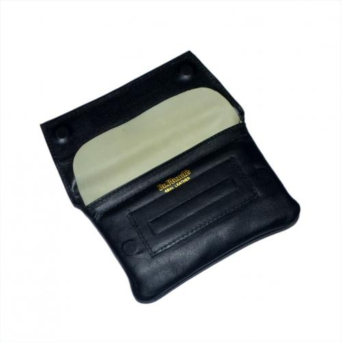 Dr Plumb Wallet & Cigarette Paper Holder Leather Tobacco Pouch