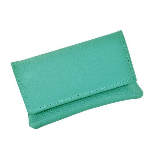 GBD Mini Leather Hand Rolling Tobacco Pouch - Turquoise