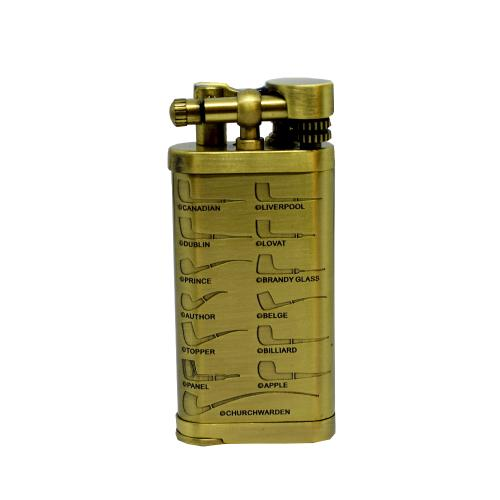 Passatore Leonard Gold Flint Pipe Lighter