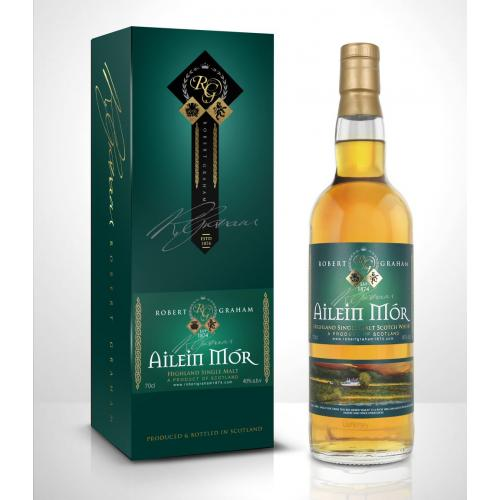 Ailein Mor 10 Year Old Award Winning Single Malt Whisky - 70cl 40%