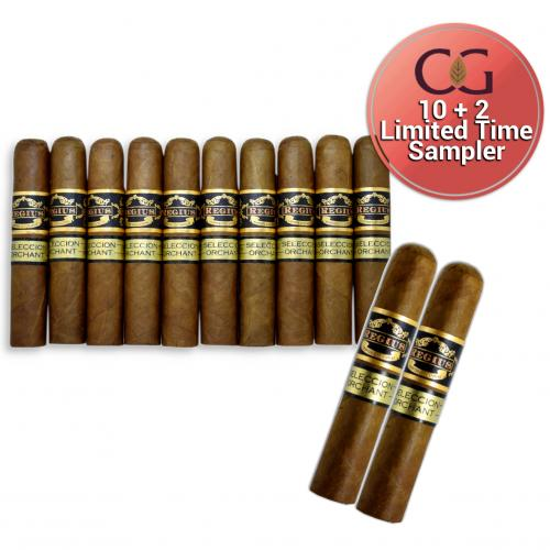 LIMITED TIME SAMPLER - 10 + 2 Regius Seleccion Orchant 2018 Robusto - 12 Cigars