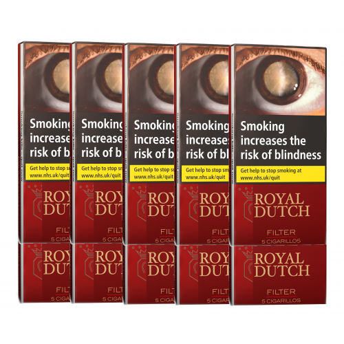 Ritmeester Royal Dutch Filter Cigar – 10 Packs of 5