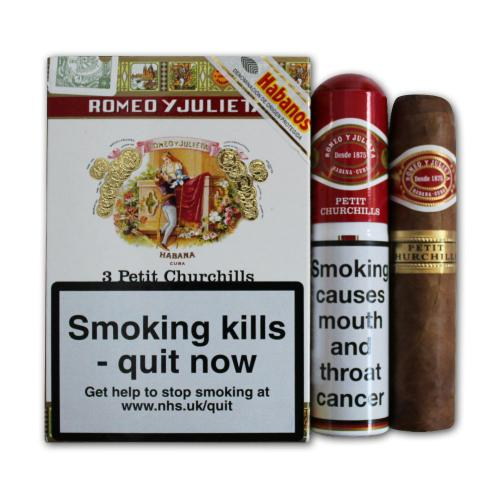 Romeo y Julieta Petit Churchills Tubed Cigar - Pack of 3
