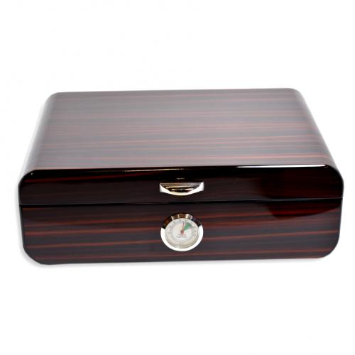 Savinelli High Lacquered Brown Humidor - 30 Cigar Capacity