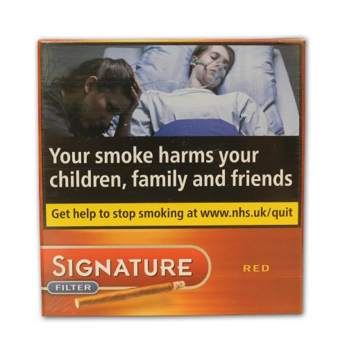 Signature (Formally Cafe Creme) Filter Red Cigar - Pack of 10