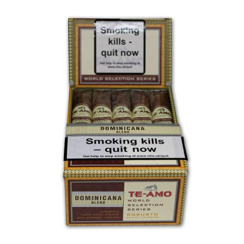 Te-Amo World Selection Series Dominican Robusto Cigar Pack of 15 (End of Line)