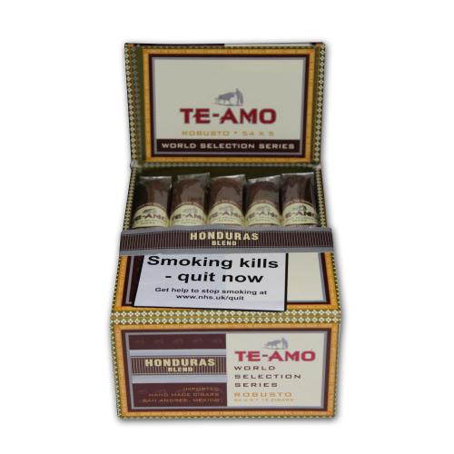 Te-Amo World Selection Series Honduran Robusto Cigar Pack of 15 (Discontinued)