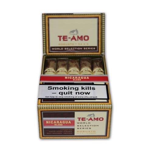Te-Amo World Selection Series Nicaraguan Robusto Cigar Pack of 15 (End of Line)