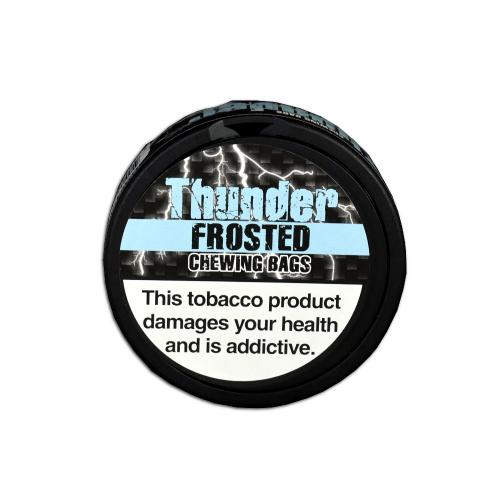 Thunder Frosted Chewing Bag Tobacco Tin