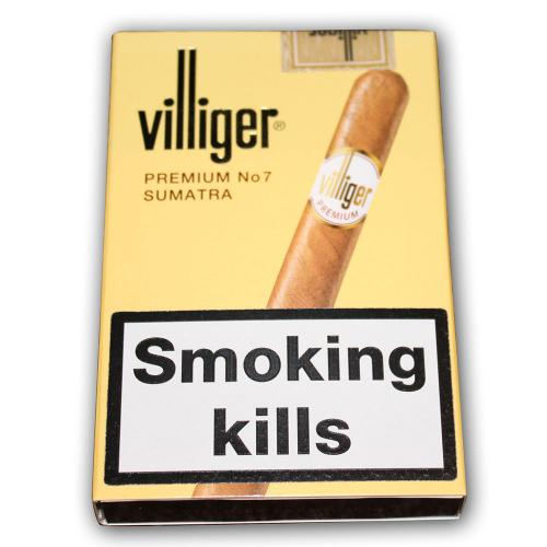 Villiger Premium No. 7 Cigar - 5 Packs of 5 cigars