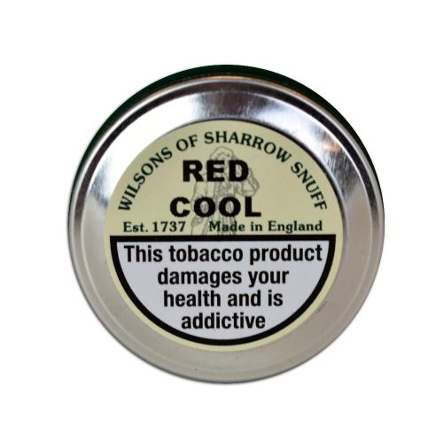 Wilsons of Sharrow - Red Cool Snuff - Medium Tin - 10g (END OF LINE)