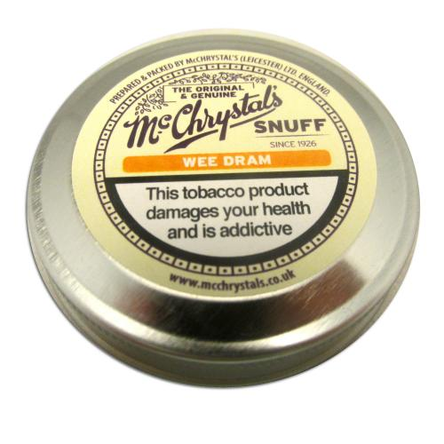 McChrystals Wee Dram (Formerly Whisky) Snuff - Mini Tin - 3.5g