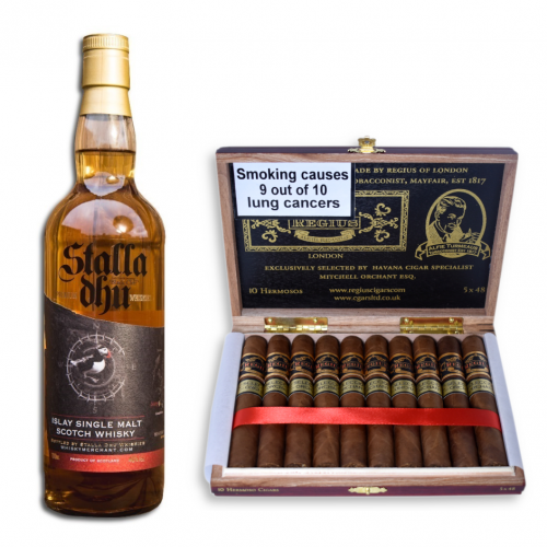 Stalla Dhu Islay Whisky + Regius Seleccion Orchant 2019 Hermoso Christmas Pairing Sampler