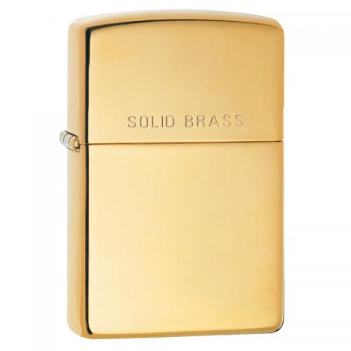 Zippo - High Polish Solid Brass Lid - Windproof Lighter