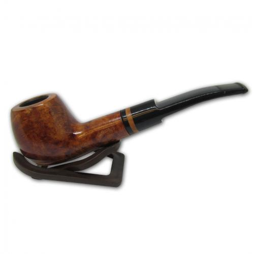 Adsorba Light Brown Smooth Semi Bent Apple Pipe