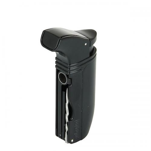 Adorini Puroso Double Jet Black Solingen Blade Lighter