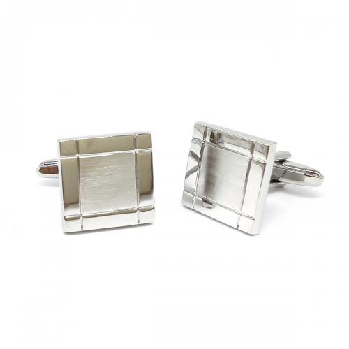 Brushed Art Deco Classic Personalised Cufflinks