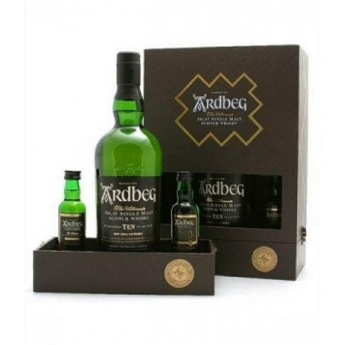 Ardbeg Exploration Gift Pack - 70cl Bottle Plus 2x5cl
