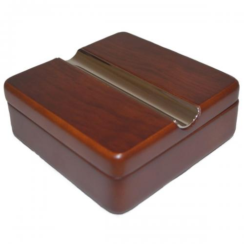 Square Twist Lid Cigar Ashtray - Rosewood