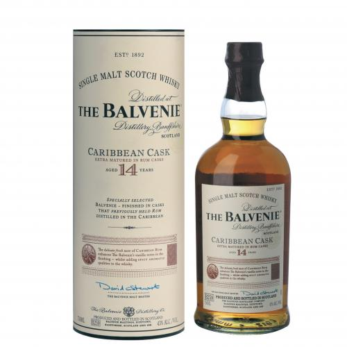 JANUARY SALE - Balvenie 14 Year Old Caribbean Cask - 70cl 43%