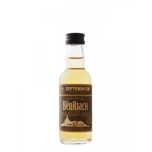 BenRiach 17 Year Old Septendecim Peated Malt Scotch Whisky Miniature - 5cl 46%