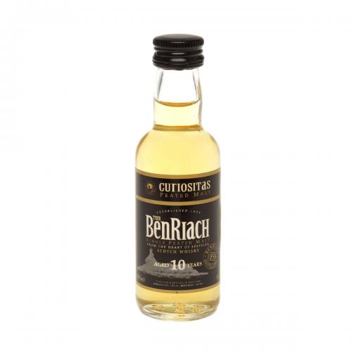 BenRiach 10 Year Old Single Malt Scotch Whisky Miniature - 5cl 43%