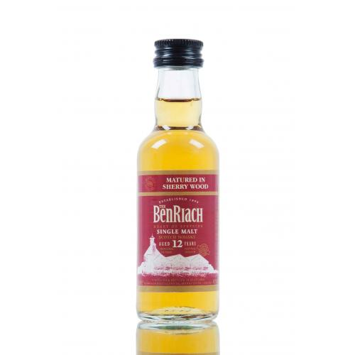 BenRiach 12 Year Old Wood Finish Sherry Matured Miniature - 5cl 46%