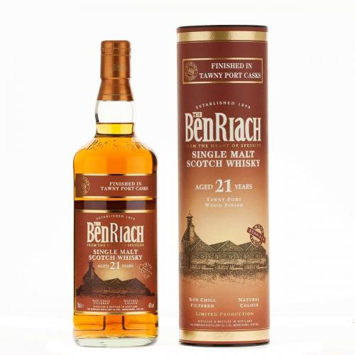 BenRiach 21 Year Old Tawny Port Cask Finish - 70cl 46%